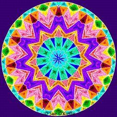 Fiesta Mandala by Sue O'Kieffe