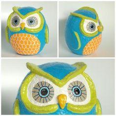 Papier mache owl inspiration for Diy paper mache owl