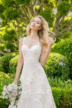 Romantic lace wedding dress | Moonlight Couture Wedding Dress Collection | Moonlight Bridal