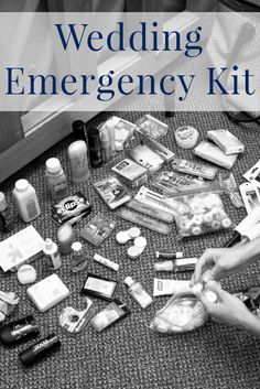 What should be in your wedding day emergency kit?