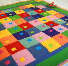 Leap Frog - Mini by helen richards quilts, via Flickr