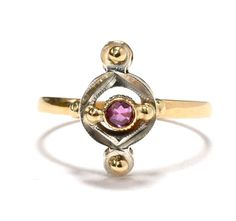 Art Deco Ruby 18K White & Yellow Gold Ring by RubyInTheDustVintage  #rubyinthedust #rubyinthedustvintage #vintagejewelry #edwardian #antiquejewelry #estatejewelry #rubyinthedust #vintagejewelry #artdeco #weddingjewelry #bridaljewelry #somethingold #promisering #patina #antiquejewelry #estatejewelry #weddings