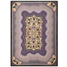 Antique Room Sized American Hooked Rug | From a unique collection of antique and modern north and south american rugs at https://www.1stdibs.com/furniture/rugs-carpets/north-and-south-american/