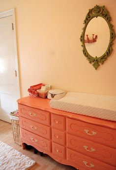 Love the recycled dresser.