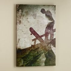 Skateboarder Canvas Wall Art