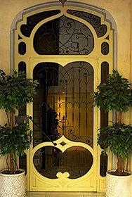 .pretty yellow door