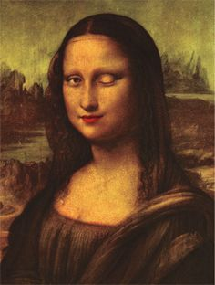 Famous for her smile, Mona Lisa has a cheeky wink to go with it! The Mona Lisa Lenticular Postcard adds another dimension to the conventional Mona Friends, La Madone, Mona Lisa Parody, Mona Lisa Smile, Aesthetic Gif, Gif Pictures, Funny Art, Her Smile, Les Oeuvres