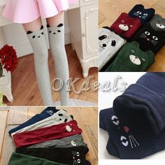 Type: Knee High Socks. Style: Fashion, Cute. Material: Cotton. Gender: Women's. Due to the light and screen difference, the item's color may be slightly different from the pictures. | eBay!