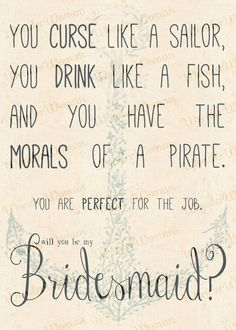 Curse Like A Sailor Drink Like A Fish... Bridesmaid's Invitation with anchor design by WonderWomanBoutique, $7.00