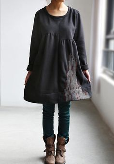 Fall Women Coat Long Sleeves Shirt dress by MaLieb on Etsy, $92.00