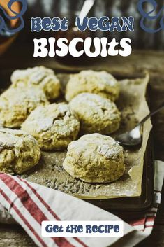 The BEST Vegan Biscuit Recipe! Easy to make and perfect for a delicious healthy no oil plant based breakfast. Healthy Side Recipes, Vegan Dessert Recipes, Vegan Breakfast Recipes, Vegan Recipes Easy, Healthy Foods To Eat, Whole Food Recipes, Healthy Sides, Simple Recipes, Diet Recipes