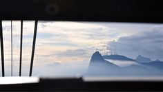 Framed view of Cristo Redentor (Christ Redeemer)