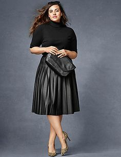 2473e799de4 Plus Size Skirts. Skirt OutfitsPleated Skirt OutfitWinter Skirt OutfitPleated  Leather ...
