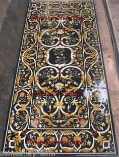 """Grand Pietra Dura Marble Inlay Dining Table Top """"Art of Royal Court"""" Furniture   eBay"""