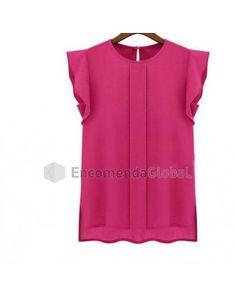 Camisa Feminina Chiffon Verão