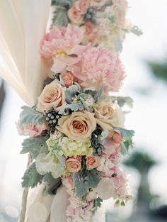 Dusty Miller and Pastel Flowers | photography by http://www.esthersunphoto.com