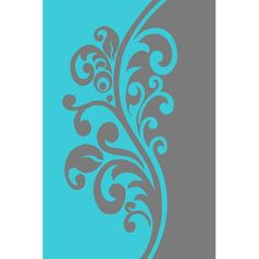 Turquoise Gray x Floral Oriental Area Rug C. Jugendstil Design, Contemporary Area Rugs, Contemporary Carpet, Kirigami, Stencil Designs, Fabric Painting, Persian Rug, Swirls, Rugs On Carpet