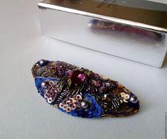 Купить Брошь Бабочка 2 - фиолетовый, брошь, брошь ручной работы, оригинальный подарок