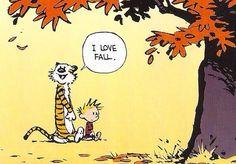 i love fall - Calvin & Hobbes