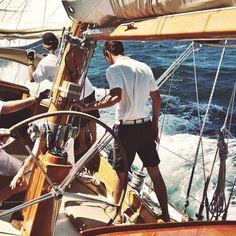 ninamayamode: Men at work @henryminter @henk_ski #Sailing...