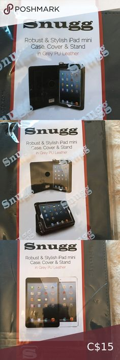 Snugg mini iPad case new Grey leather case, cover, stand. I bought 2 by accident. It's awesome. Snugg Other Grey Leather, Leather Case, Pretty Little Liars Books, Under Armour Joggers, Nancy Drew Books, Pet News, Candle Spells, Dog Diapers, Navy And Brown