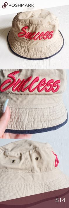 Unisex Success khaki bucket hat👌🏼 Success khaki bucket hat // one size fits all // never used // has a minor stain that can be removed in the back of the hat as shown in last picture success Accessories Hats