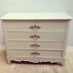 Original old French drawers shabby chic original paint