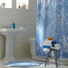 cute print on the shower curtain