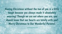 Latest Christmas Wishes for parents