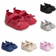 45cc25654877 HK- Fashion Infant Baby Kid Girl Bowknot Soft Sole Prewalker Toddler Shoes  Novel  fashion