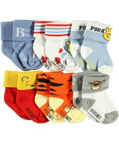 """Winnie the Pooh """"Friends Galore"""" 6-Pack Cuffed « Clothing Impulse"""