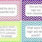 grades 4-8, 60 Task Cards -- This is a color document with adorable chevron patterns.  This document is a PDF,  I created these task cards for elementary grade...