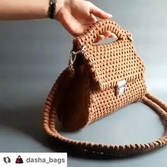 Crochet Bag Tutorials, Crochet Purse Patterns, Basic Crochet Stitches, Free Crochet Bag, Crochet Cord, Crochet Handbags, Crochet Purses, Potli Bags, Art Bag