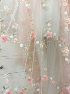 Pearl Flower Lace Fabric in Pink by yard for Flower Girl Flower Applique with Pearl for Victoria Wedding Gowns – Hochzeit meiner Träume Princess Aesthetic, Pink Aesthetic, Deco Floral, Floral Lace, Beaded Lace Fabric, Victoria Wedding, Chiffon Flowers, Chiffon Dress, Flower Applique