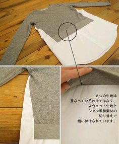 Diy ropa reciclada ideas ideas Diy ropa reciclada ideas ideas This image has get Sewing Hacks, Sewing Tutorials, Sewing Crafts, Sewing Projects, Sewing Patterns, Upcycled Crafts, Shirt Refashion, Diy Shirt, Diy Clothing