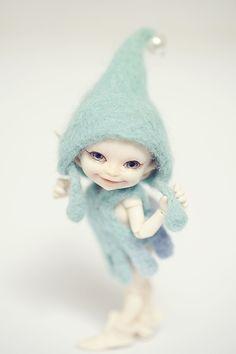 Elf Doll, Bjd Dolls, Beautiful Fairies, Beautiful Dolls, Baby Mold, Fairy Crafts, Fairy Figurines, Baby Fairy, Polymer Clay Dolls