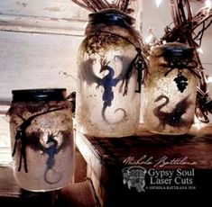 Smelly Dragon Jars with Tutorial - Nichola . -Rotten Smelly Dragon Jars with Tutorial - Nichola . Mason Jars, Mason Jar Crafts, Fun Crafts, Diy And Crafts, Crafts For Kids, Clay Crafts, Halloween Crafts, Halloween Decorations, Halloween Bottles
