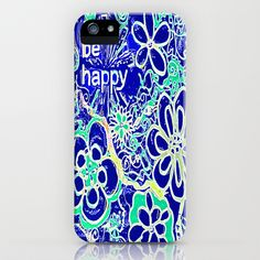 Be Happy iPhone & iPod Case by RokinRonda - $35.00
