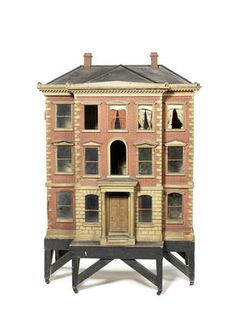 Beautiful Antique Dollhouse. Rick Maccione-Dollhouse Builder   www.dollhousemansions.com