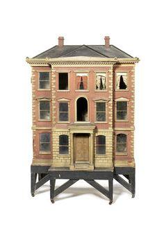 Beautiful Antique Dollhouse. Rick Maccione-Dollhouse Builder   www.dollhousemansions.com