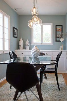 "Troy's 750 Square Foot ""Crowd Pleaser"" Apartment — House Tour  Paint color from Restoration Hardware Fan Deck"