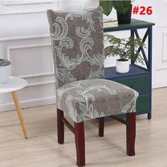 Decorative Chair Covers - Buy Today Get Discount – Wowelo Dining Room Chair Covers, Dining Room Chairs, Dining Furniture, Table And Chairs, Stretch Chair Covers, Stylish Chairs, Chair Backs, Slipcovers For Chairs, Sofa Covers