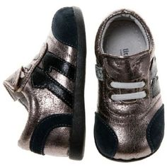 06ccdb6c783 Little Blue Lamb funky toddler boys leather sneakers in silver with black  suede trim. Australian stockist Tiptoe   Co.
