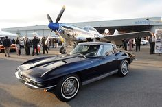1963 Corvette Stingray.  This is the oldest Stingray in existence. The third  Stingray constructed, the '63 Convertible boasts hand-laid fiberglass and a 327-cube V8 under the hood.