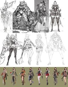 Sung-choul Ham_ old rough concept sketch. girls-3