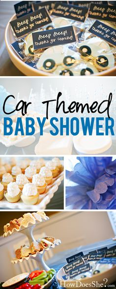 "Car Themed Baby Shower- mine will say ""Vroom Vroom!"""
