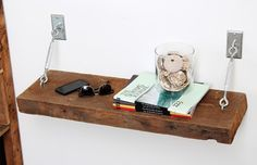 Turnbuckle Shelves with Reclaimed Wood - contemporary - bedroom - los angeles - Silicate Studio