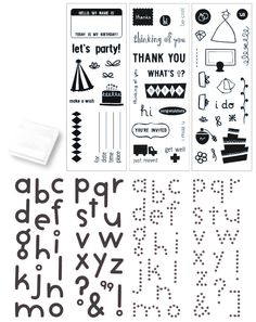 KI Memories - Special Edition - Clear Acrylic Stamp Set with Stamp Block - Alphabets and Greetings at Scrapbook.com ON SALE FOR $9.99 (Was $49.99) GREAT GIFT IDEA!