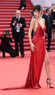People are *not* being kind about Bella Hadid's gown...