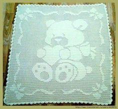 Mis Pasatiempos Amo el Crochet: Manta infantil diseño de oso